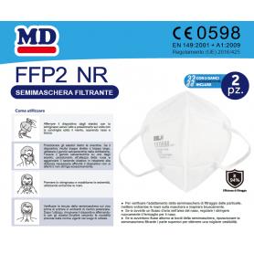 CONFEZIONE MASCHERINE 20001 FFP2 NR 2 PEZZI